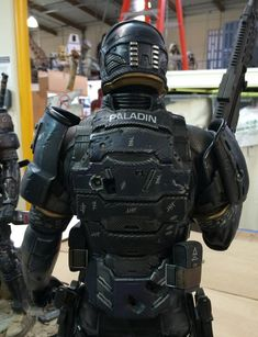 "the-cyber-hell: "" Last Man Standing - Gabriel "" Combat Armor, Military Armor, Character Concept, Character Art, Character Design, Paintball, Tactical Armor, Arte Cyberpunk, Futuristic Armour"