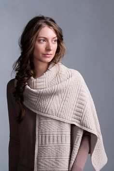 Ravelry: Guernsey Wrap pattern by Jared Flood.  Beautiful textured stitches in BT's new Arbor DK  yarn.