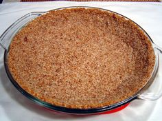 Low Sugar Coconut-Almond Pie Crust or Cheesecake Crust --- TO DECARB: Use erythritol or Stevia as Splendas baking blends are mixed with sugar. Brownie Desserts, Oreo Dessert, Mini Desserts, Coconut Dessert, Sugar Free Desserts, Dessert Recipes, Jelly Recipes, Plated Desserts, Low Carb Sweets