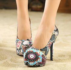 Zapatos Plataforma Escondida Pricesa Estampados