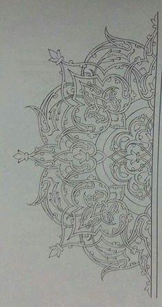 Turkish Islamic art More Más Turkish Design, Turkish Art, Islamic Art Pattern, Pattern Art, Desenho Tattoo, Arabic Art, Calligraphy Art, Islamic Calligraphy, Mandala Art