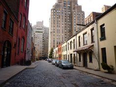 Washington Mews, Greenwich Village; the alley that looks like it's leftover from a bygone era is owned by NYU and used for faculty offices and campus groups.