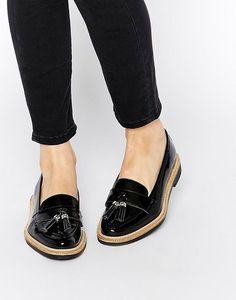 KG Kurt Geiger | KG by Kurt Geiger Lucien Black Tassel Loafer Flat Shoes at ASOS