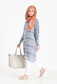 Blue Regal Batwing Midi Dress | Ideal for everyday wear! http://www.inayahcollection.com/