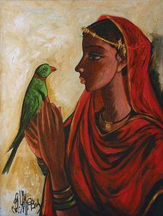 B Prabha. Untitled. Oil on canvas, 1994