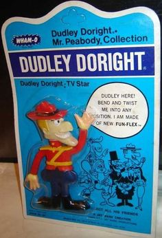 Dudley Do-Right figure (Wham-O, Childhood Toys, Childhood Memories, Celebrity Barbie Dolls, 1990s Toys, Toy Barn, Collectible Toys, Saturday Morning Cartoons, Lucky Girl, Toys Shop