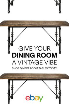 Transform your dining experience with innovative and clever design ideas. Shop dining room tables from eBay today.