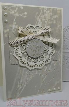 Alternative Wedding Card. Cream/Vanilla, Delicate, Detailed yet simple. Independent Stampin' Up!® Demonstrator UK.