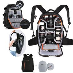 DSLR Waterproof Camera Backpack Bag Case for Canon Nikon Sony Weather Cover USA in Cameras & Photo, Camera & Photo Accessories, Cases, Bags & Covers | eBay