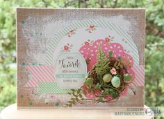 Home Décor by Mary Ann Jenkins using the @Xyron Inc. Creative Station and Midday Medley Paper Collection, Midday Medley Nestable Festival Sticker Pad, Graceful Season Quilled Cardmaking Kit