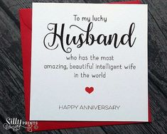Best Birthday Message For Husband Cards Dads Ideas Anniversary Message For Husband, Anniversary Cards For Wife, Birthday Message For Husband, Wedding Anniversary Quotes, Anniversary Funny, Husband Birthday, Anniversary Card Messages, Anniversary Verses, Marriage Anniversary
