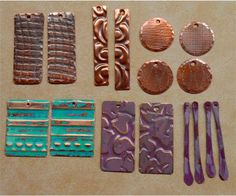 Handmade Rustic Copper Earring Components  16 pieces  by SunStones, $16.00