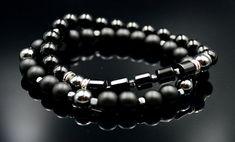 Men's Black Onyx Bracelets Beaded Bracelet Set Hematite Bracelet Stacking Bracelets Stretch Bracelets Gift for Men Gemstone Crystal Bracelet Hematite Bracelet, Gemstone Bracelets, Bracelet Set, Handmade Bracelets, Stacking Bracelets, Agate Beads, Stone Pendants, Black Onyx, Stretch Bracelets