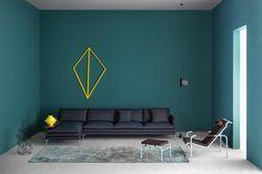 Arredare le pareti con il colore: il verde ottanio.