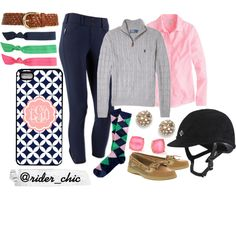 """Pink and Preppy Fall"" by rider-chic on Polyvore<<<can I PLEASE have this!!!!!!!!!!"