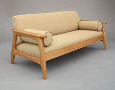 Linnaea Sofa by Hardwood Artisans Sofa Bed Design, Living Room Sofa Design, Home Decor Furniture, Cool Furniture, Furniture Design, Wooden Sofa Set Designs, Wood Sofa Table, Pallet Sofa, Sofa Frame