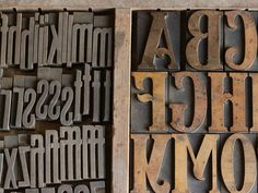 A case with two styles of wood type