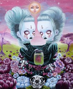 54 Ideas Dark Art Paintings Surrealism Artists For 2019 Art And Illustration, Dark Art Illustrations, Portrait Illustration, Fashion Illustrations, Creepy Art, Weird Art, Fantasy Kunst, Fantasy Art, Gothic Kunst