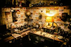 Amateur Radio Station circa 1935 We need someone to create an equipment list for this room.
