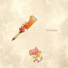 Pokeapon No. 513 - Pansear. #pokemon #pansear #cleaver #pokeapon Pokemon Stories, Pokemon Sets, Pokemon Funny, Cool Pokemon, Pokemon Go, Papercraft Pokemon, Dungeons And Dragons Homebrew, Concept Weapons, Fantasy Weapons