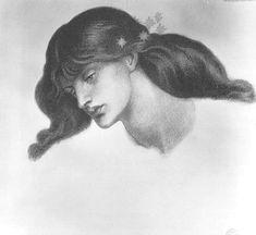 El estudio doncella bienaventurada de 1876 - Dante Gabriel Rossetti