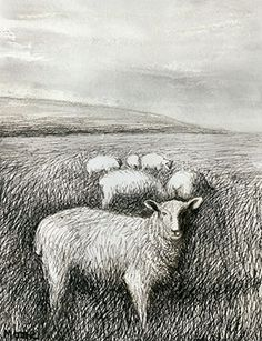Henry Moore, Sheep Grazing in Long Grass I, 1981. Inv. HMF 81(310). Photo: Brian Coxall, The Henry Moore Foundation archive. Reproduced by permission of The Henry Moore Foundation.