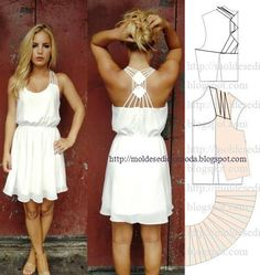 pretty white summer dress (cool back)