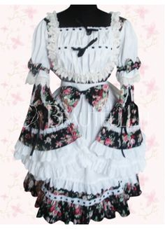 $127.49  Colorful Cotton Long Sleeves #Punk #Lolita #Dress