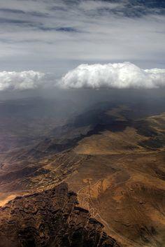 aerial view Simien Mountains National Park, Ethiopia ~ UNESCO World Heritage Site.  Photo: mariusz kluzniak via Flickr