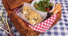 » Zucchini, Corn & Feta Slice