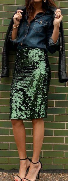Sequin MIDI skirt pencil skirt bridesmaid sequin skirt