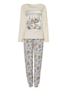 Womens Grey Bambi Disney Pyjama Set | Tu clothing