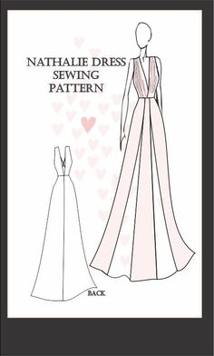 Our patterns come in an easy to assemble digital pattern format which can be printed from any printer onto OR Letter Size (US) sheets of plain paper, are tap Wedding Dress Sewing Patterns, Formal Dress Patterns, Sewing Patterns Free, Pattern Sewing, Princess Dress Patterns, Dress Making Patterns, Skirt Patterns, Coat Patterns, Pattern Drafting