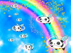 たれぱんだ Tare panda Pink fluffy pandicorns floats on a rainbow Happy Panda, Panda Love, Cute Panda, Panda Funny, Panda Party, Panda Wallpapers, Fuzzy Wuzzy, Disney Mouse, Unicorn Party