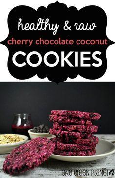 Dessert Recipe: Raw Cherry Chocolate Coconut Cookies #vegan #rawfood #recipes #glutenfree #dessert #healthy #whatveganseat #plantbased