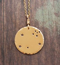 Leo+necklace+gold+necklace+constellation+necklace+Leo+by+ZennedOut,+$62.50