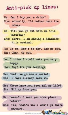 More great comebacks to cheesy pick-up lines. Hahaha!!!