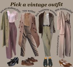 Retro Outfits, Vintage Outfits, Cool Outfits, Casual Outfits, Vintage Fashion, Fashion Outfits, Hipster Outfits, Grunge Outfits, Aesthetic Fashion