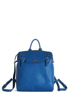 Marvelous to Behold Backpack. Youve never seen a backpack as stunning as this sapphire-blue bag from Nica! #blue #modcloth