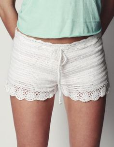 Otis Crochet Shorts by Black Sheep These look so comfy!