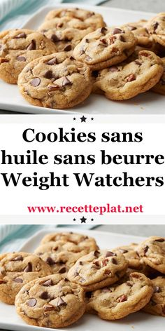 Cookies sans huile sans beurre Weight Watchers Here is a recipe for making light cookies, oil-free cookies without butter, very Vanilla Recipes, Ww Recipes, Healthy Recipes, Cake Recipes, Dessert Recipes, Dinner Recipes, Weight Watcher Cookies, Weight Watchers Desserts, Cookies Light