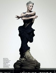 tilda swinton has one of the fiercest looks in the game! she is so avant-garde!