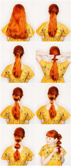 easy bubble ponytail tutorial