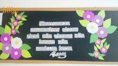 #bilge# öğretmenler günü panosu.. Oğlumun sınıfı için 4-D çankaya ilkokulu