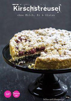 Billas Welt: Kirschstreuselkuchen: glutenfrei, vegan und mit ganz viel Knusper!