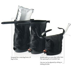 WINE SACK | Portable, Carafe, Bottle, Bar Accessories, Picnic, Container | UncommonGoods