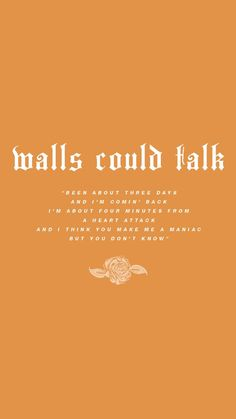 walls could talk lyric
