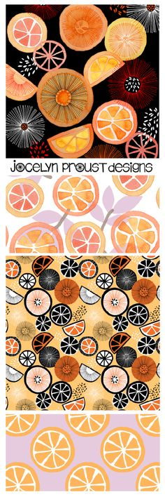 Jocelyn Proust Designs Oranges Collection textile design, fabric design, surface pattern design
