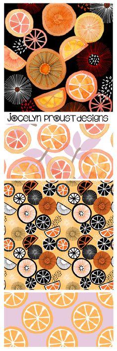 Jocelyn Proust Designs Oranges Collection textile design, fabric design, surface pattern design