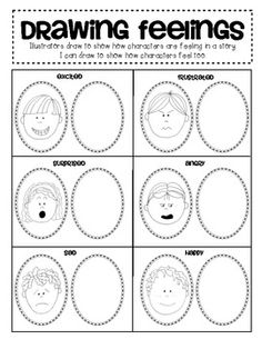 (sample page) Writing Workshop: Mini Lesson Page - I Can Draw how a character is feeling in my story. $